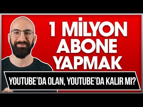 1 MİLYON ABONE