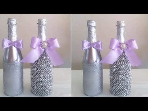 DIY| BLING BRIDE AND GROOM CHAMPAGNE BOTTLES 2017/ WEDDINGS, ANNIVERSARY, BRIDAL PARTY