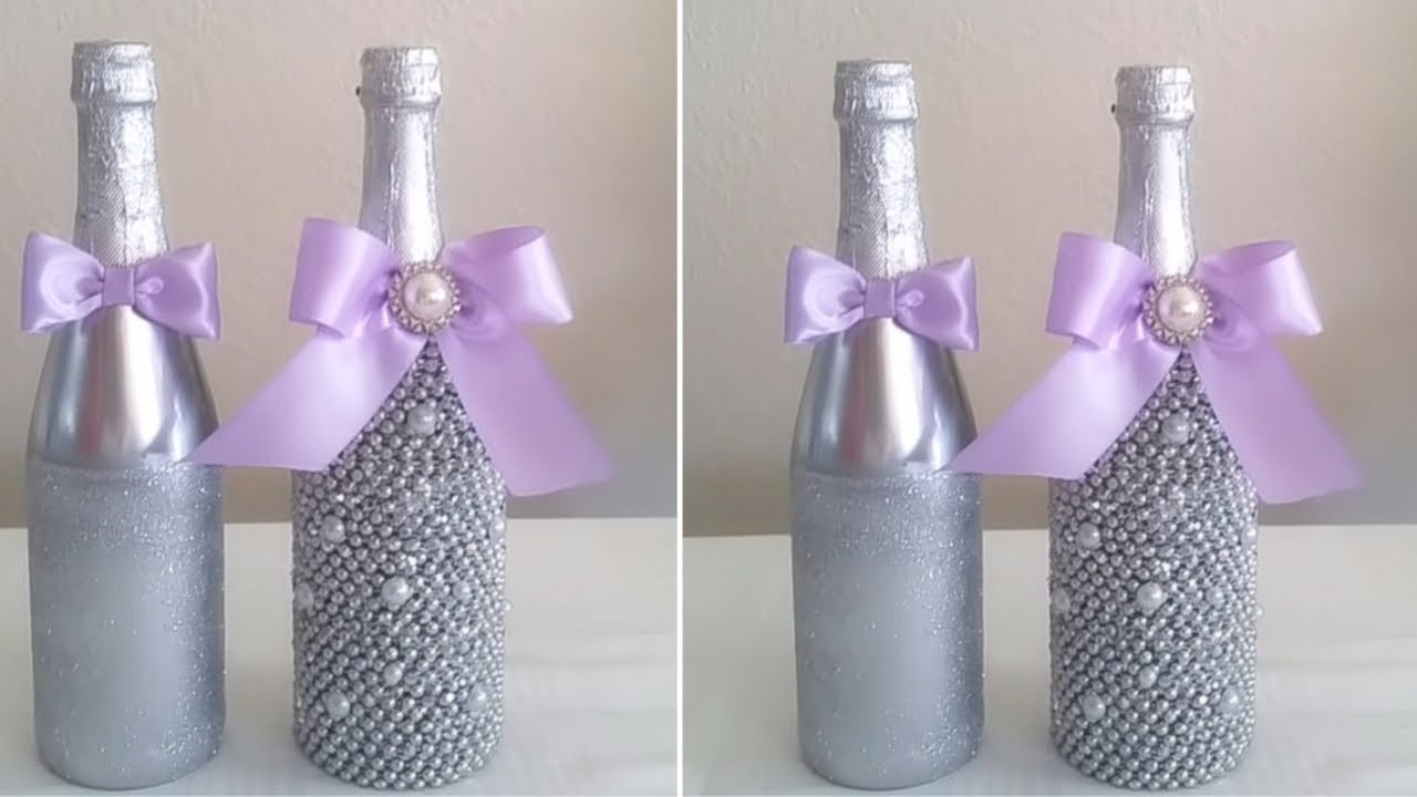 bling wedding decorations for sale diy mr and mrs bling champagne bottle decor 1906