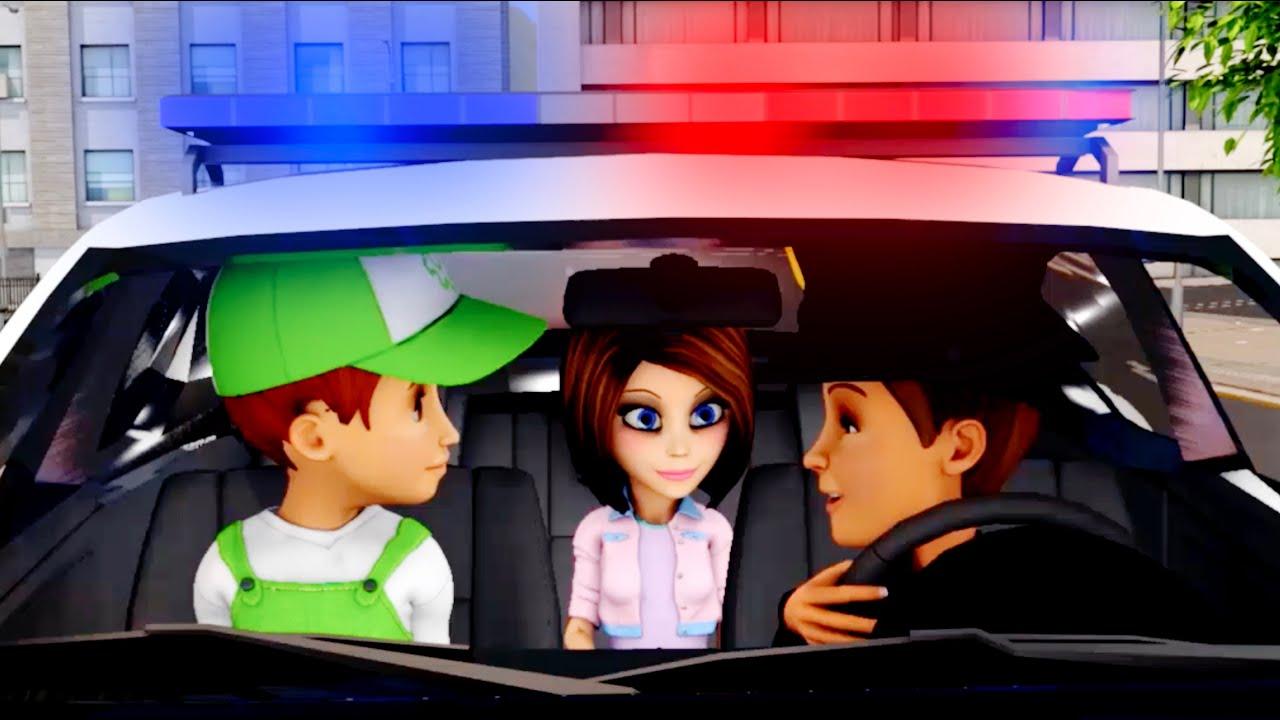 Carro de policia para niños. Policia animados en español. Carros infantiles  Animados carros.