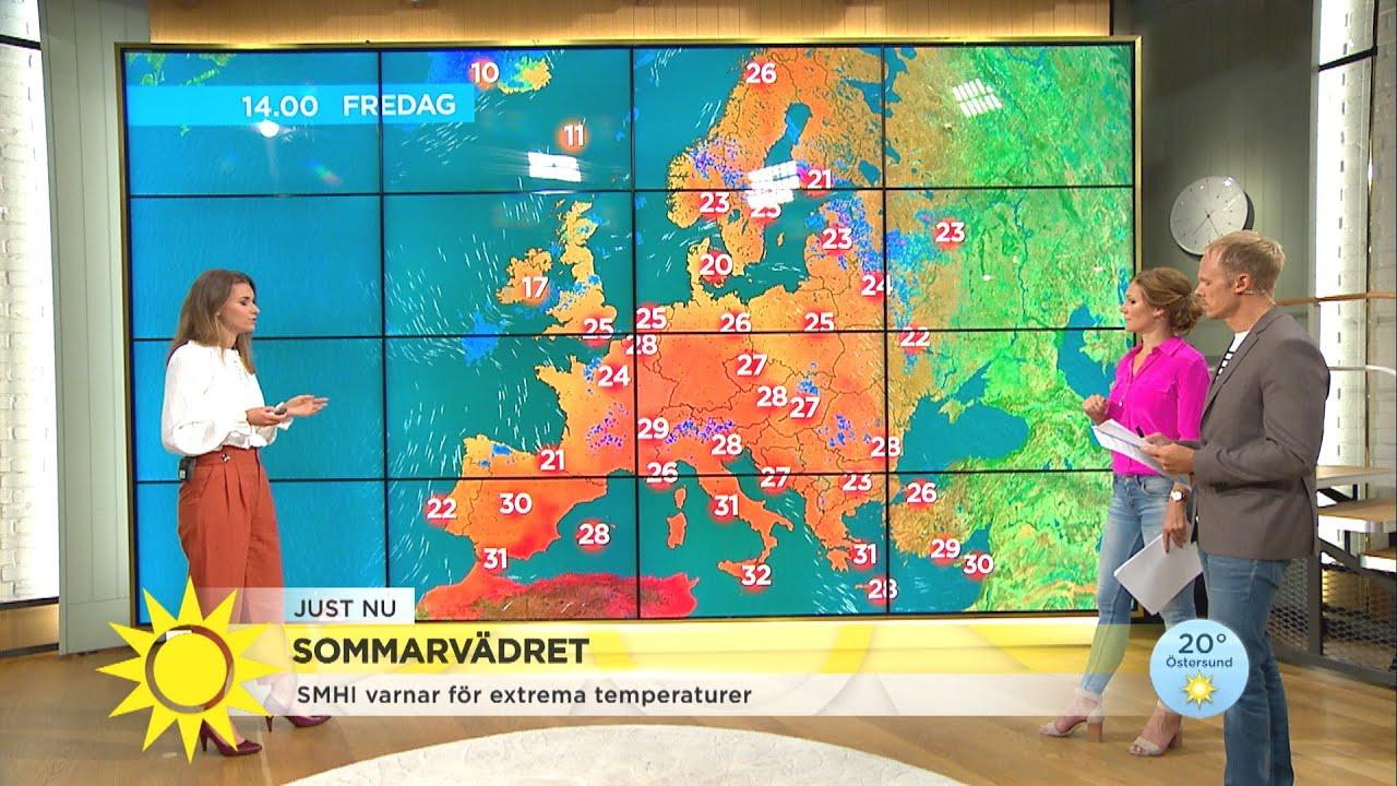 Sommarvädret – SMHI varnar för extrema temperaturer  - Nyhetsmorgon (TV4)