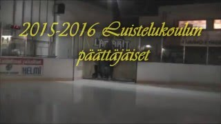Luistelu- ja kiekkokoulun päättäjäiset 2015- 2016