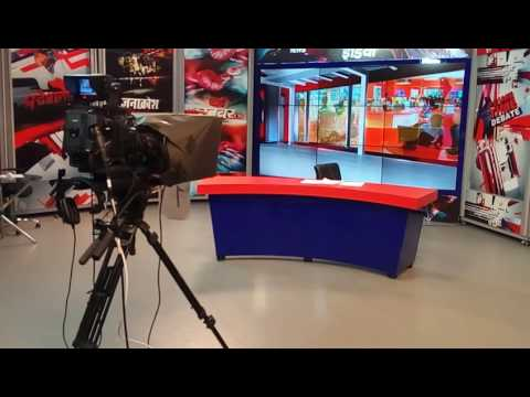 Best studio setup design in tv channel in hindi