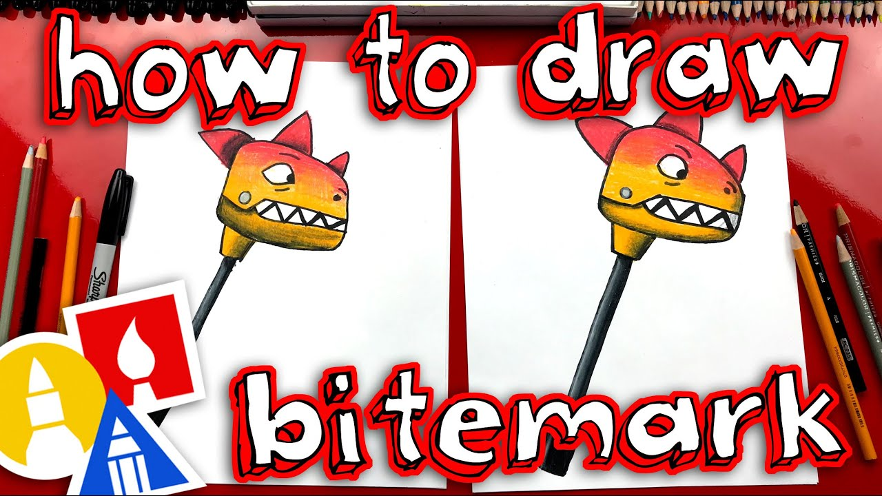 How To Draw Fortnite Bitemark Pickaxe , Art For Kids Hub ,