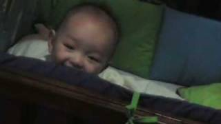 "Gian at 5 months laughing at ""peek a boo"""