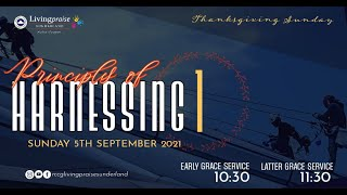 September Thanksgiving Service    PRINCIPLES OF HARNESSING 1