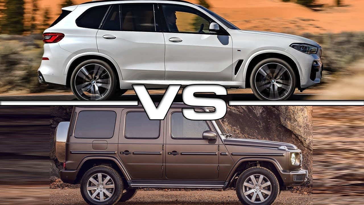 2019 bmw x5 vs 2019 mercedes g500 technical specifications