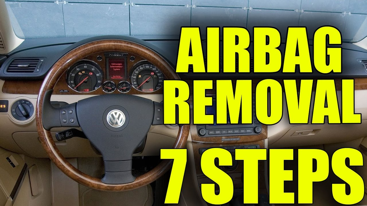 How to remove the steering wheel airbag VW Golf Mk5, Jetta, Passat B6,  Touran, Scirocco in 7 steps