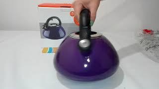 Чайник эмалированный Granchio Colorito Lilla 2,6л 88629 - ОБЗОР