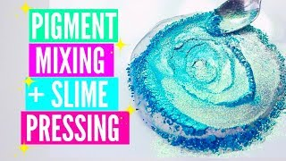 Pigment Slime Mixing + Slime Pressing Slime Bubble Popping Satisfying Slime ASMR Video Compilation