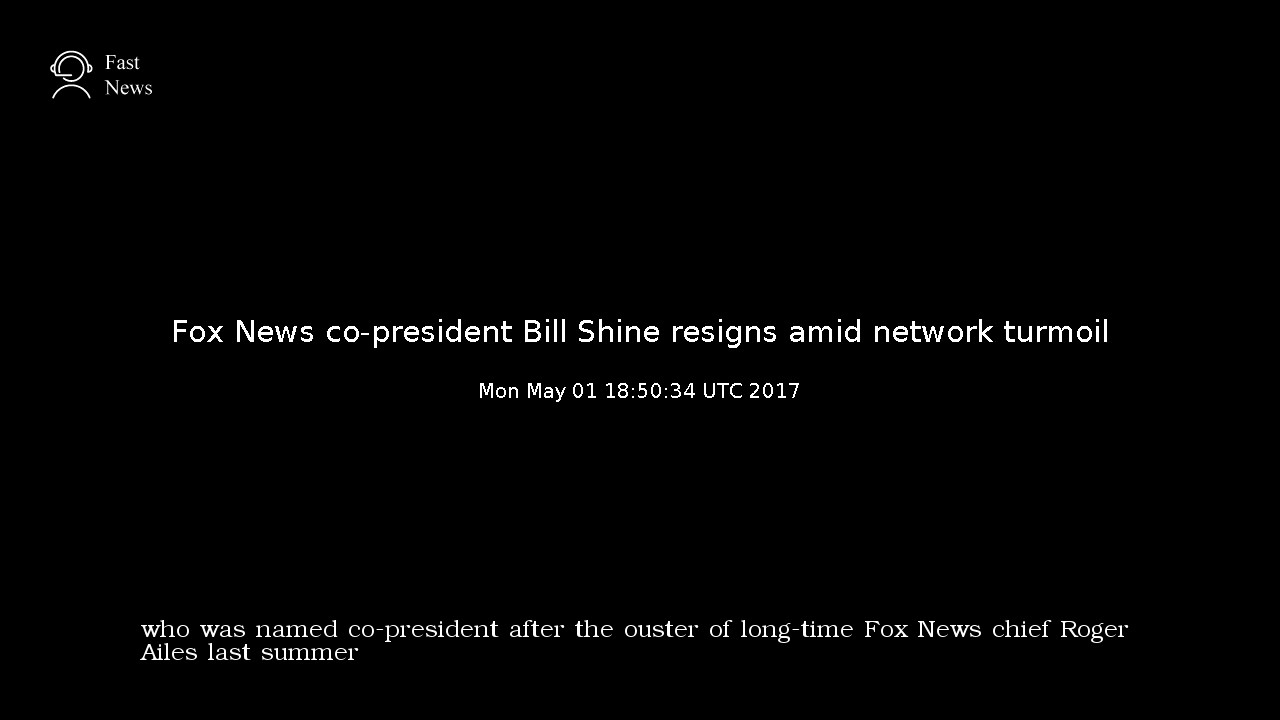 Fox News Co-President Bill Shine resigns amid criticism of his handling of ...