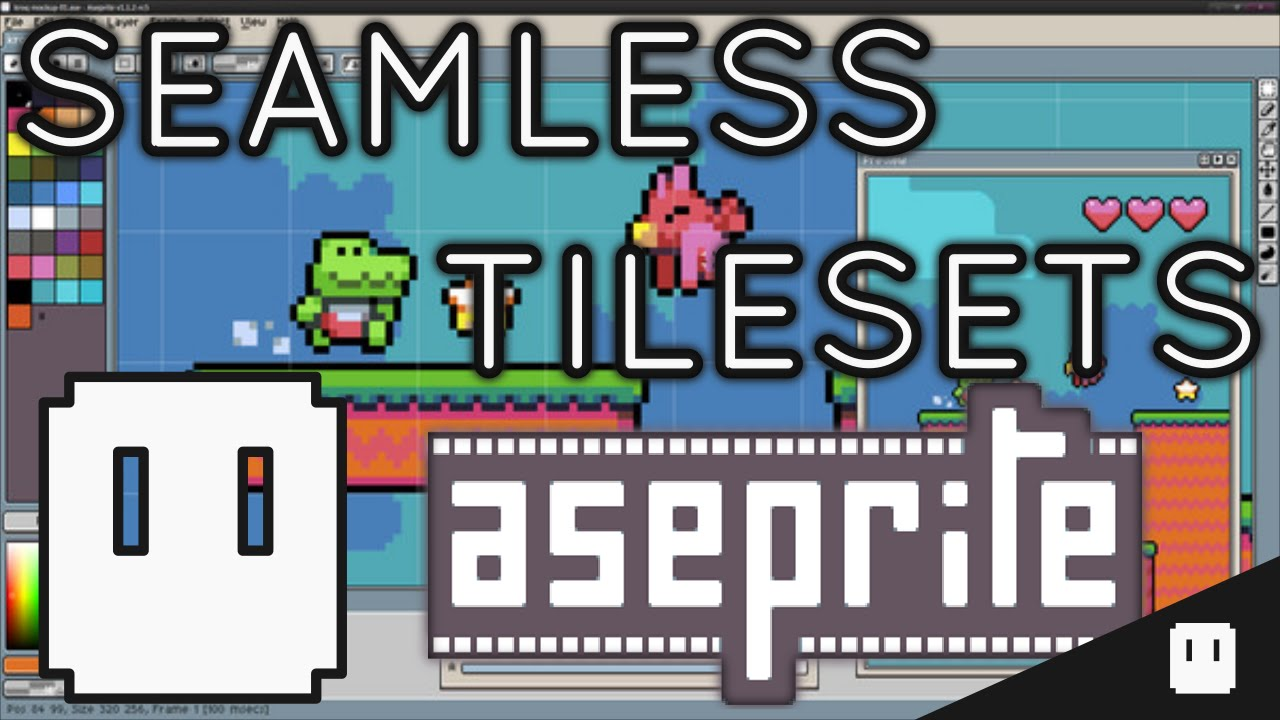 Aseprite - How to make Seamless Tiles