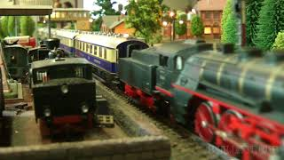 Model Railway Exhibition in Germany with Model Trains made by Marklin, Fleischmann and Roco