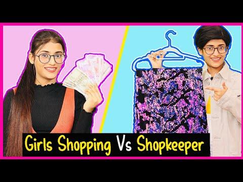 Girls Shopping Vs. Shopkeeper | SAMREEN ALI