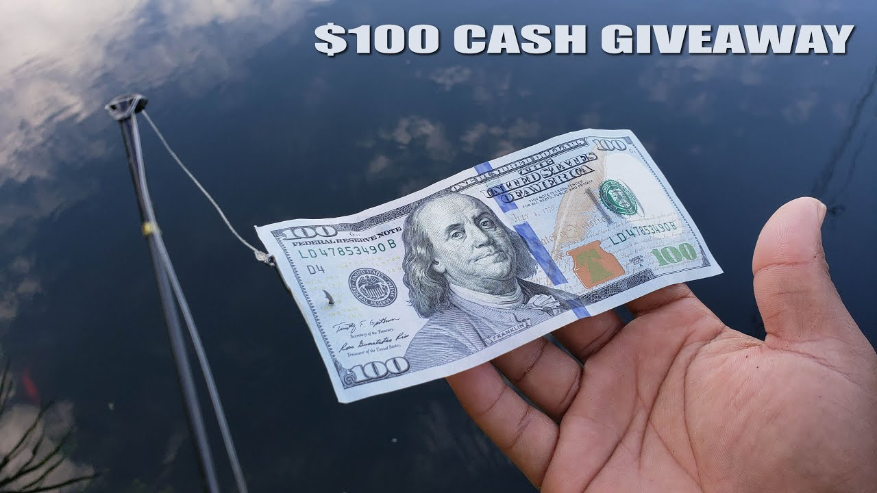 $100 Bill Fishing Challenge CASH GIVEAWAY | Monster Mike