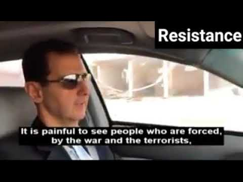 Syrian president Bashar Al Assad drives into liberated parts of Eastern Ghouta