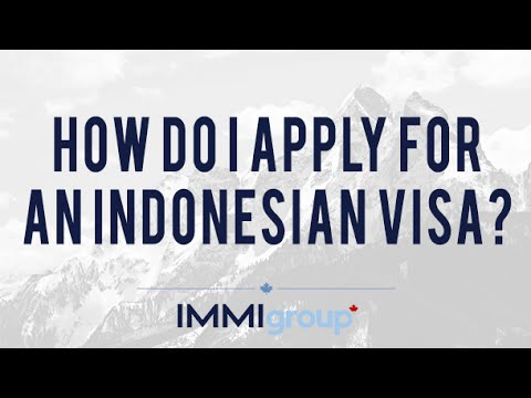 How do I apply for an Indonesian visa?