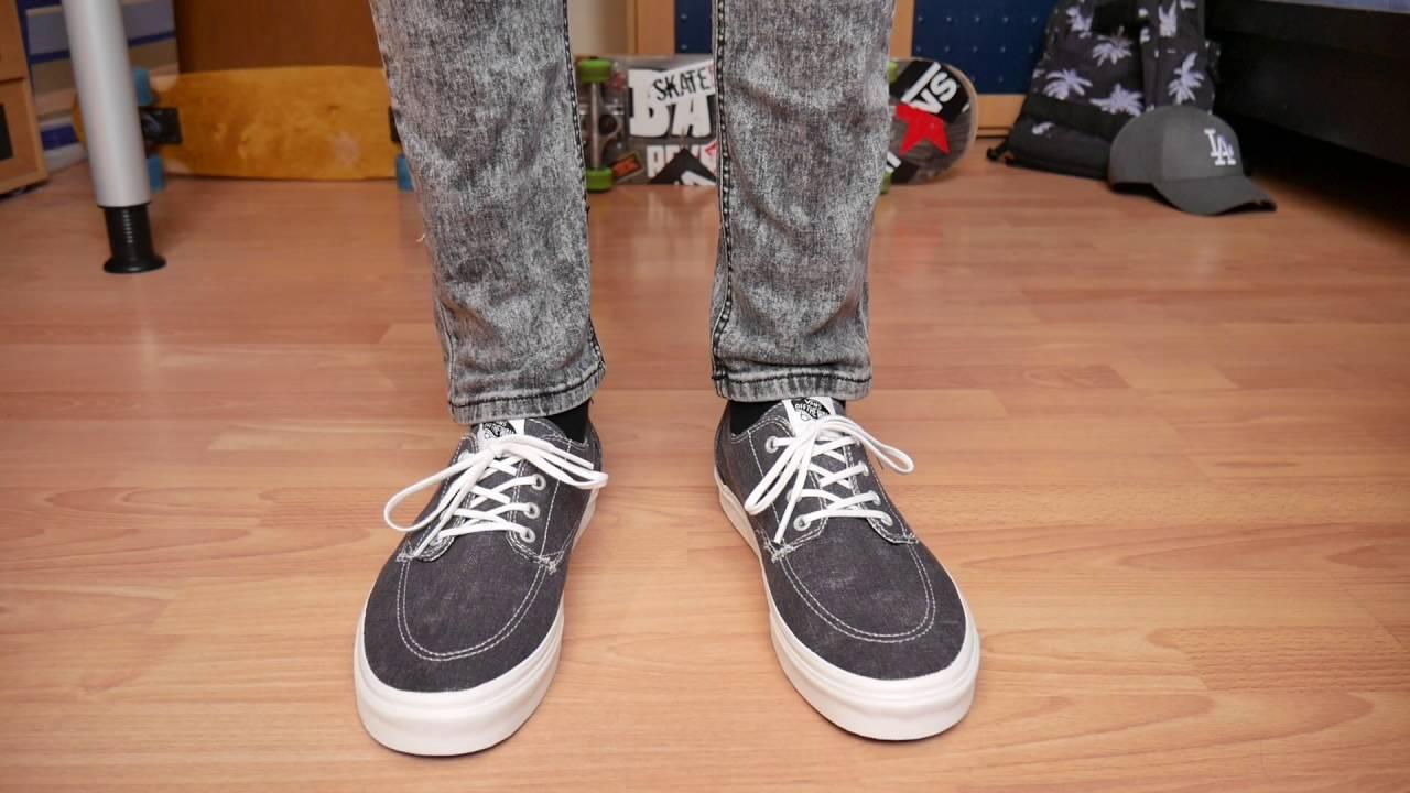 Vans Brigata ASPHALT BLACK (Washed) - On Feet