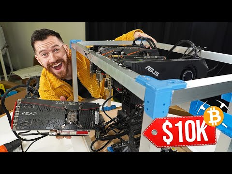I Built A Bitcoin Mining Rig That PROFITS $10,000/year!!