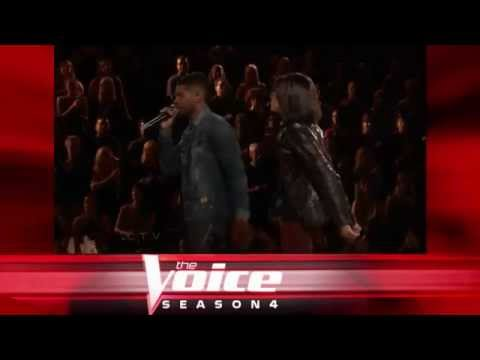 Michelle Chamuel with Usher: