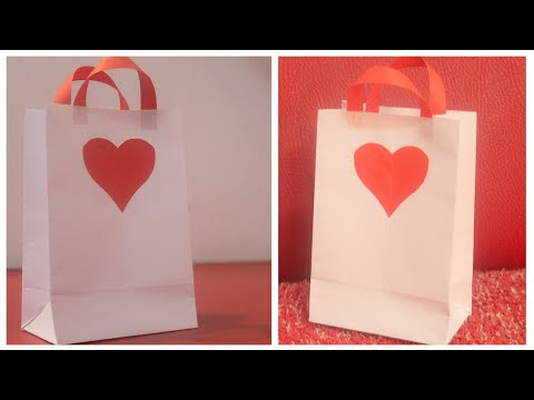 How to make a paper bag for gift - DIY paper bag for gift