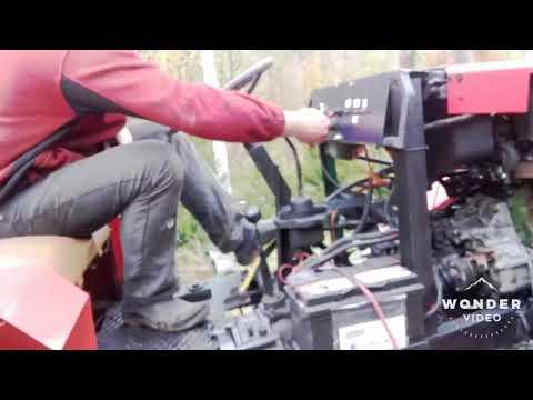 Traktor sam 4x4 pierwszy wyjazd po montażu silnika 1.6 V. W i napędzie 4.4