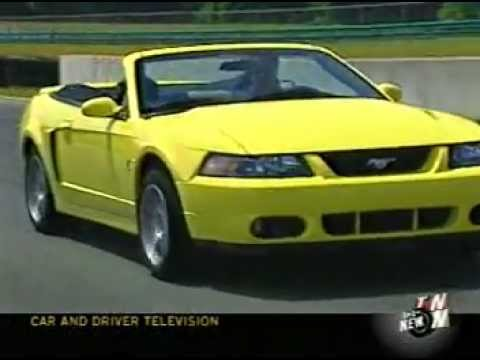 2003 SVT mustang cobra on car and driver tv show