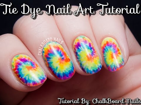 Tie Dye Nail Art Tutorial Step By Step Instructions Fabyounails