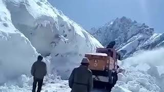 Watch: Snow clearance in full swing after a spell of fresh snowfall at Zojila pass.