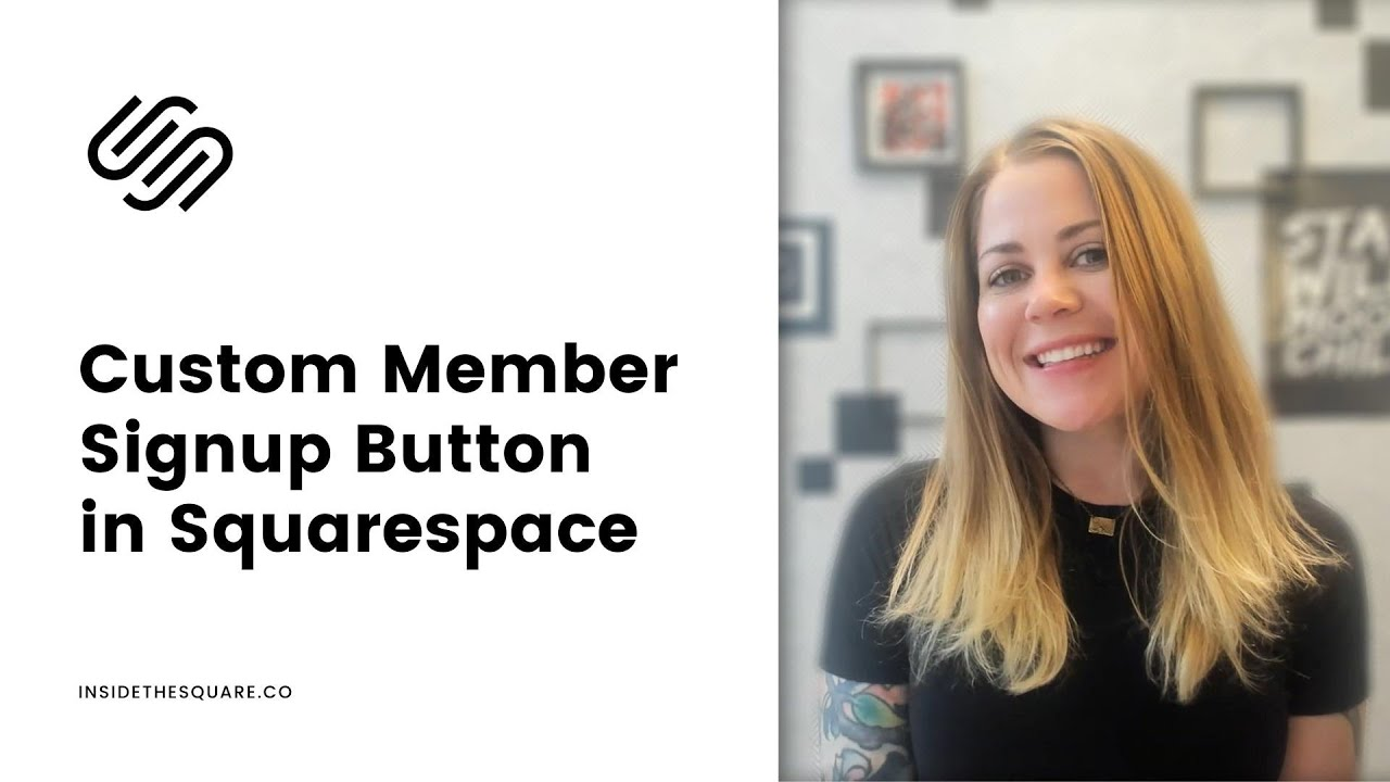 How to Customize The Member Sign Up Button in Squarespace // Squarespace CSS Tutorial