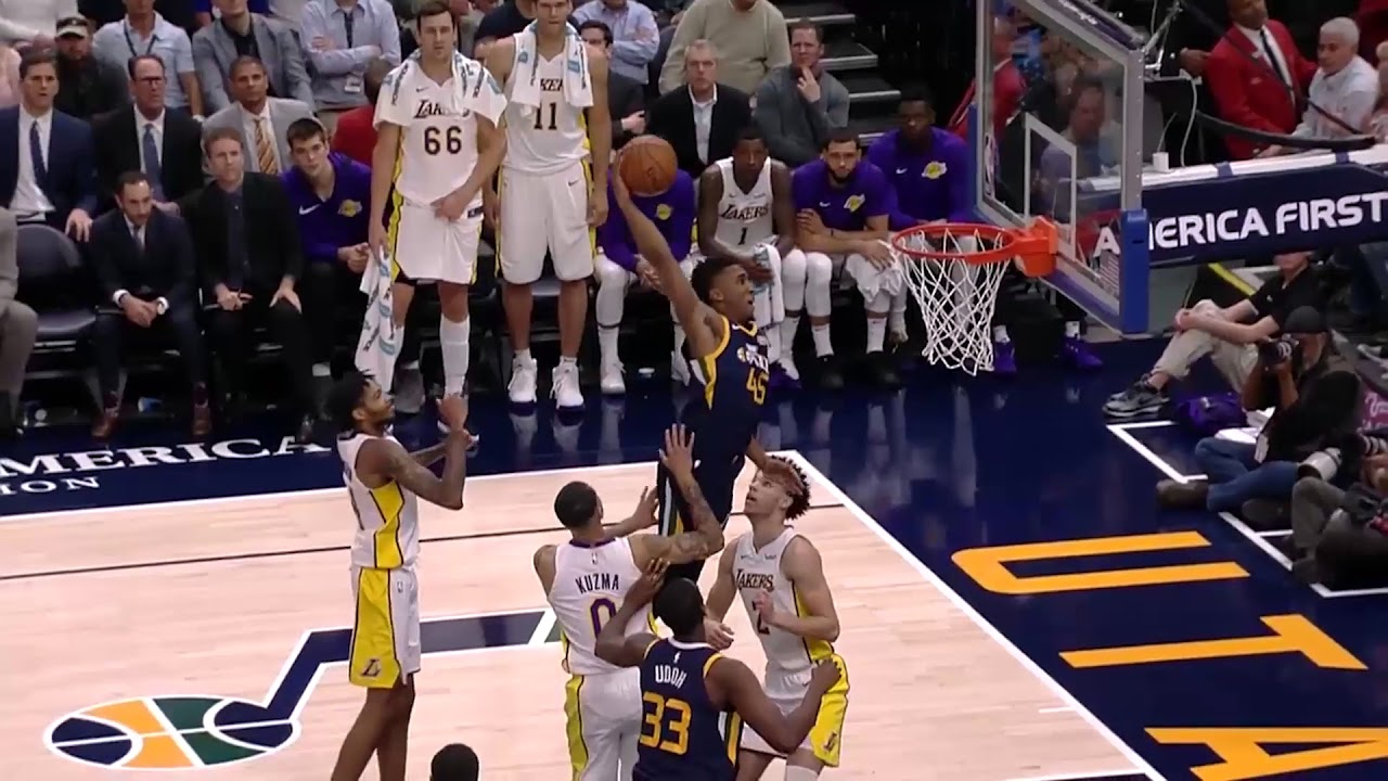 Jazz Rookie Donovan Mitchell Soars In For Monster Putback