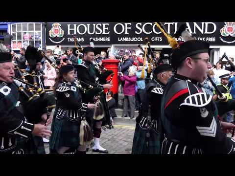 Armed Forces Day 2017 - Edinburgh - [4K/UHD] - Balaklava pipes and drums