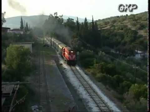 "ALCO DL 537 & ALSTHOM & DE DIEDRICH &MITSUBISHI on railfans"" trains at Peloponnese"