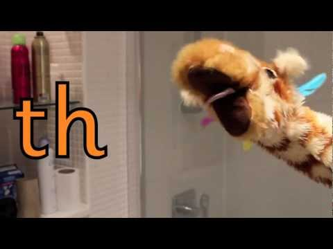 Geraldine the Giraffe learns the /th/ sound