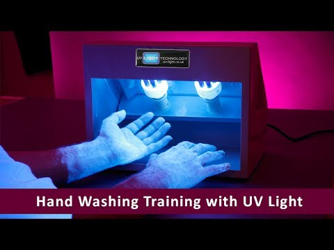 Hand Washing Training with UV Light