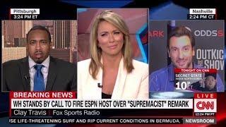 Clay Travis SHOCKS Brooke Baldwin over sexist 1st Amendment & Boobs comment  on CNN