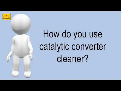 How Do You Use Catalytic Converter Cleaner?