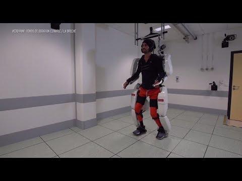 Парализованный француз прошёл более 100 метров благодаря умному экзоскелету