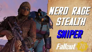 Detailed Nerd Rage Stealth Sniper Build guide - Fallout 76