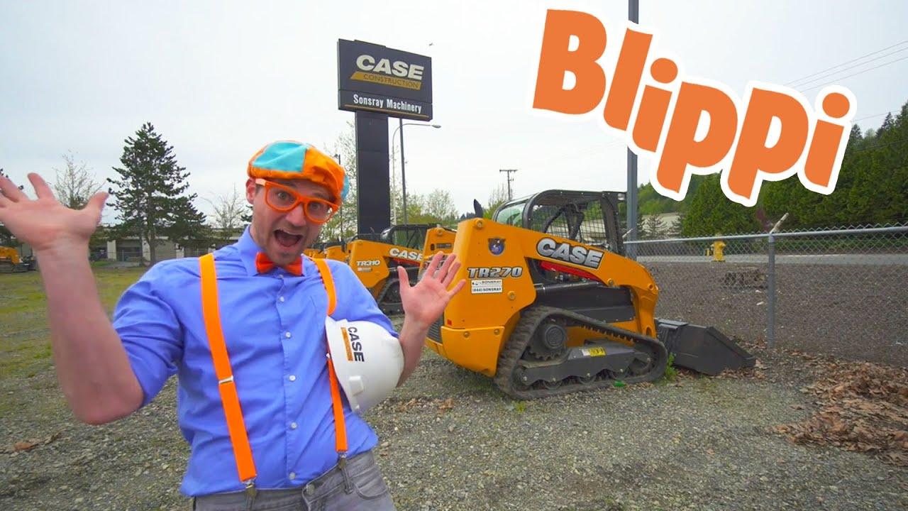 Blippi Explores Construction Trucks For Kids   Blippi Videos   Educational Videos For Toddlers