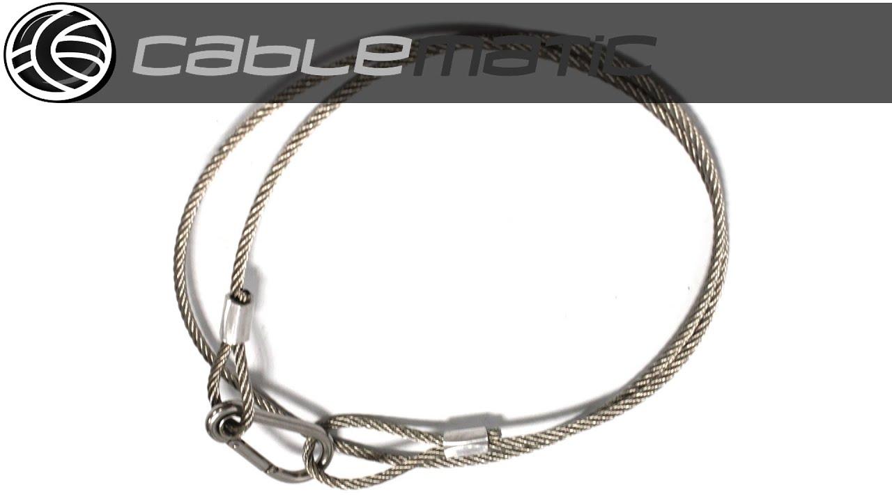 Cable de acero de seguridad de 100cm 4mm distribuido por - Cables de acero ...