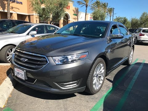 Test Driving a 2017 Ford Taurus Limited.