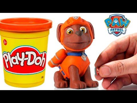 Zuma Paw Patrol Stop Motion Play Doh claymation plastilina playdo Patrulla canina de cachorros