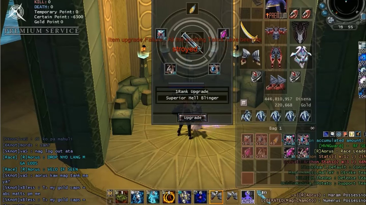 RF Online SEA Upgrading PVP Weapon Superior Hell Blinger +5 - YouTube