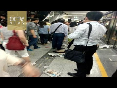 Subway passenger faints and causes stampede, injuries in Shenzhen