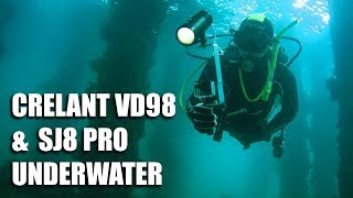 Crelant VD98 & SJ8 Pro 4K Underwater