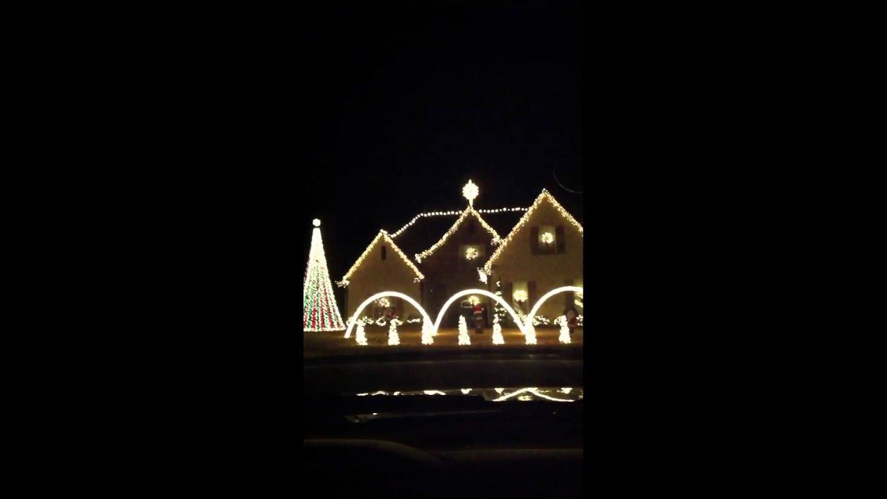 Doug's singing Christmas lights - YouTube