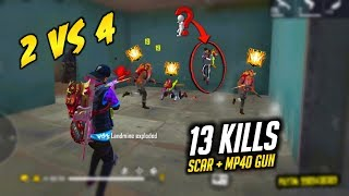 Duo vs Squad 12 Killes Best OverPower HeadShot Gameplay - Garena Free Fire
