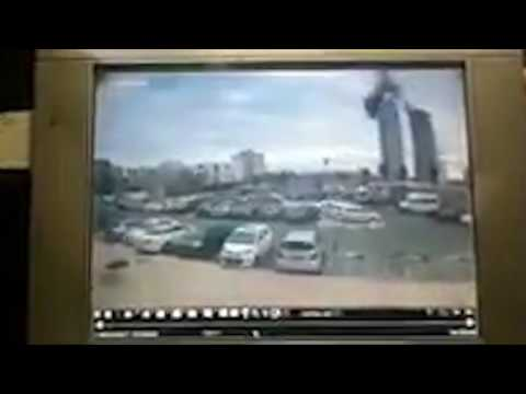 Crane collapses in Bat Yam