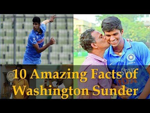 10 Amazing facts of Indian Teenage Cricketer Washington Sunder | Age |